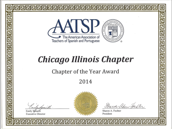 AATSP Chapter Award